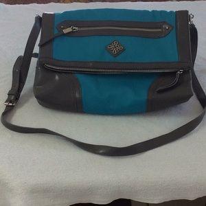 Handbags - Vera Wang teal with gray straps bag. 👛SALE $14😙